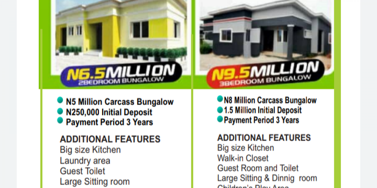 Secure a 3 Bedroom Detached Bungalow with an initial payment of 1,500,000 and spread Payment for 3 Years!!!