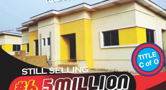 2 Bedroom Terraced Bungalow, Secure this with an initial deposit of 250,000 and spread payment for 3 Years!!!!